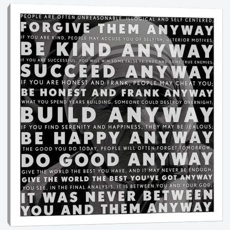 Mother Teresa Quote Canvas Print #4133} by Unknown Artist Canvas Art