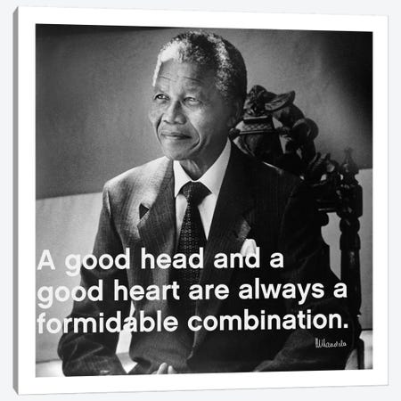 Nelson Mandela Quote Canvas Print #4138} by iCanvas Canvas Wall Art