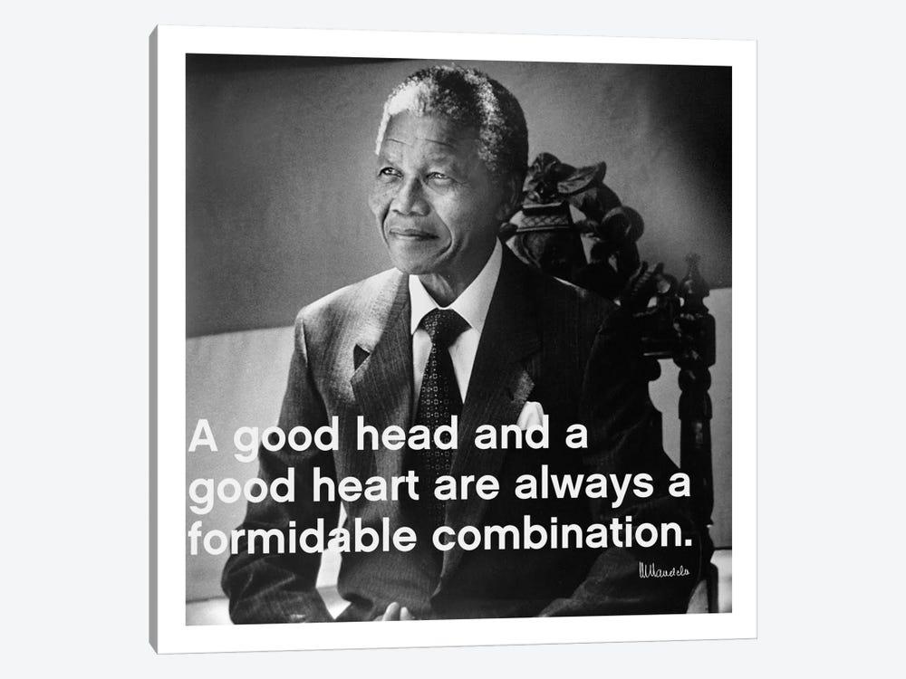 Nelson Mandela Quote by Unknown Artist 1-piece Canvas Art