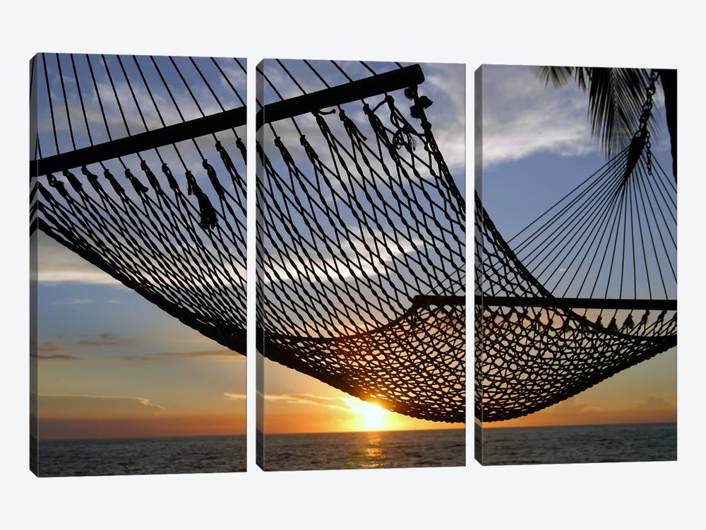 Hawaii Sunset by Unknown Artist 3-piece Canvas Print