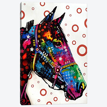 Lonely Horse Canvas Print #4200} by Dean Russo Canvas Artwork