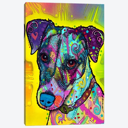 Jack Russell Canvas Print #4201} by Dean Russo Canvas Art