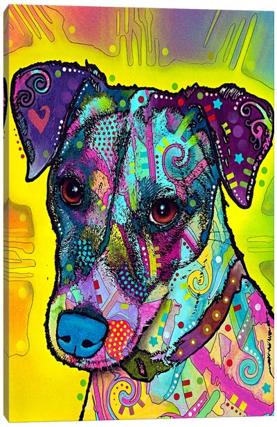 Jack Russell by Dean Russo Canvas Art