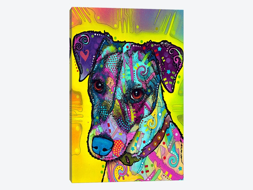 Jack Russell by Dean Russo 1-piece Canvas Wall Art