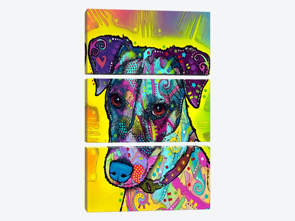 Jack Russell by Dean Russo 3-piece Canvas Artwork