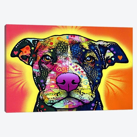 Love A Bull Canvas Print #4202} by Dean Russo Canvas Wall Art