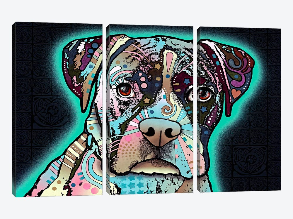 Love Thy Boxer by Dean Russo 3-piece Canvas Artwork