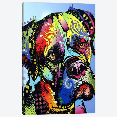 Mastiff Warrior Canvas Print #4204} by Dean Russo Canvas Print