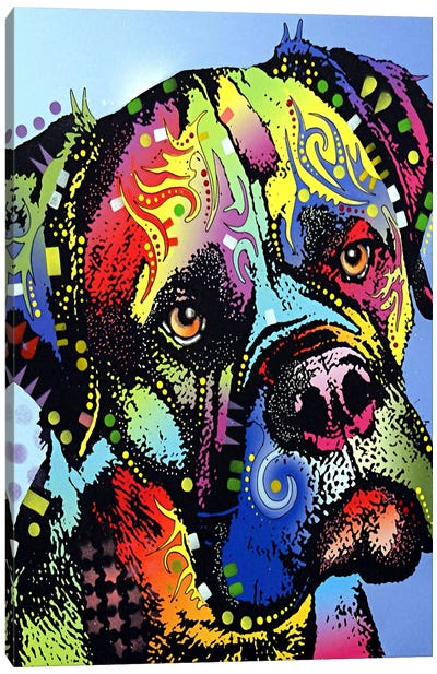 Mastiff Warrior Canvas Art Print