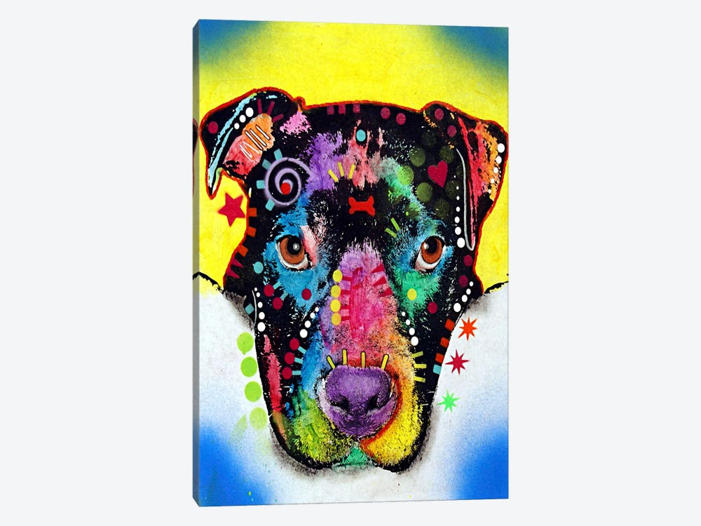 Otter Pit Bull by Dean Russo 1-piece Canvas Art