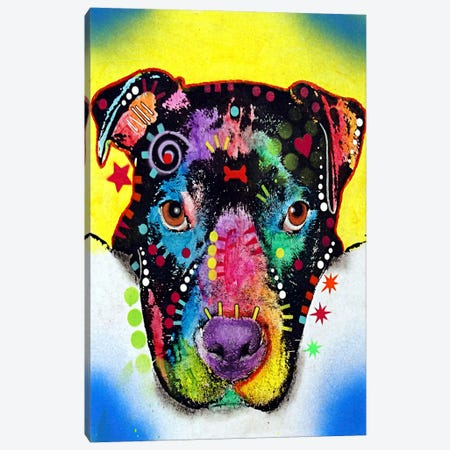 Otter Pit Bull Canvas Print #4205} by Dean Russo Art Print