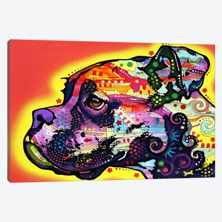 Profile Boxer Canvas Print #4206} by Dean Russo Art Print