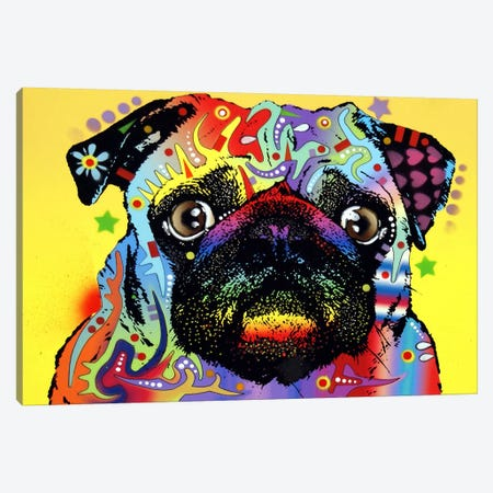 Pug Canvas Print #4207} by Dean Russo Canvas Art Print
