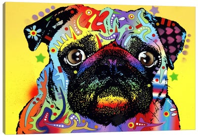 Pug by Dean Russo Canvas Art Print