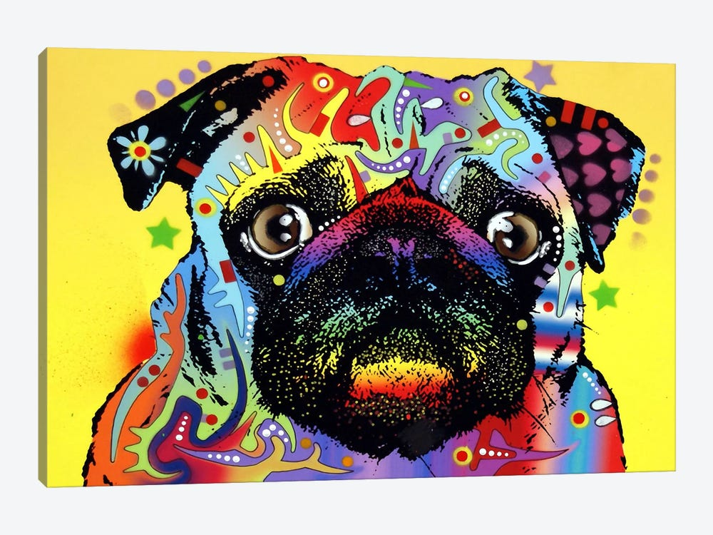Pug by Dean Russo 1-piece Canvas Wall Art