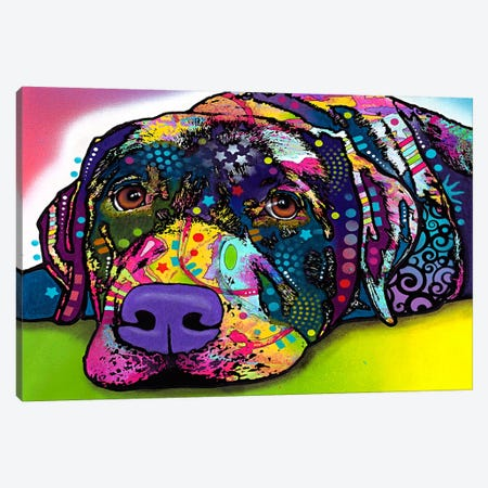 Savvy Labrador Canvas Print #4208} by Dean Russo Canvas Wall Art