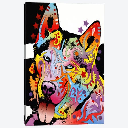 Siberian Husky Canvas Print #4209} by Dean Russo Canvas Artwork