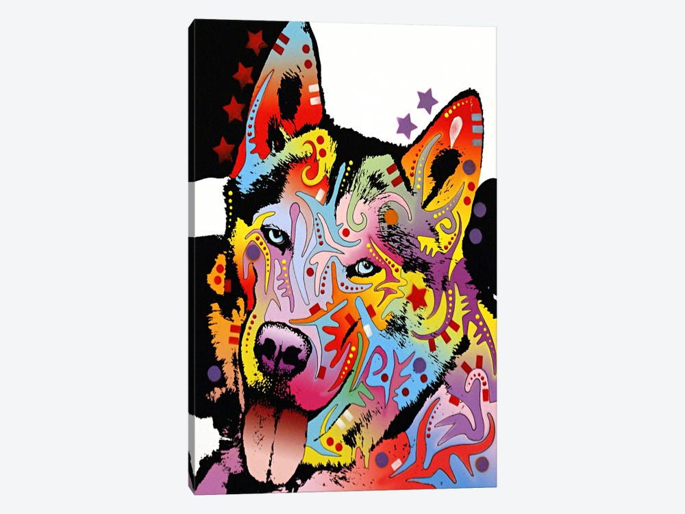Siberian Husky by Dean Russo 1-piece Canvas Wall Art