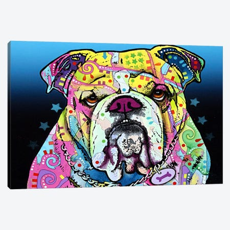 The Bulldog Canvas Print #4210} by Dean Russo Canvas Print