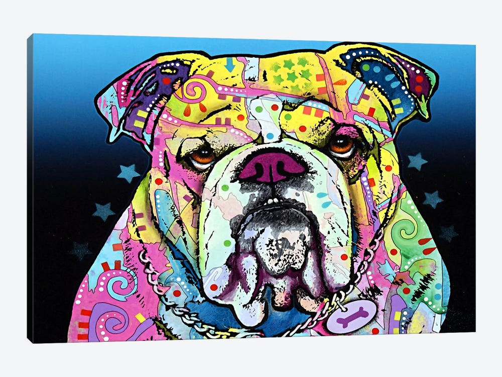 The Bulldog by Dean Russo 1-piece Canvas Artwork