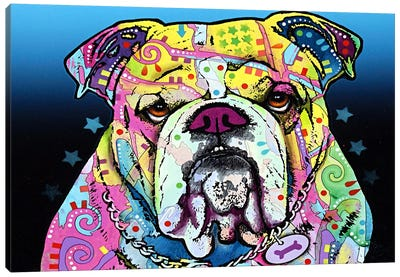 The Bulldog Canvas Art Print