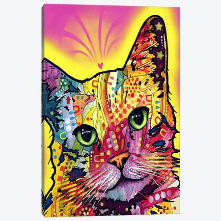 Tilt Cat Canvas Print #4213} by Dean Russo Canvas Art Print