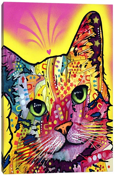 Tilt Cat by Dean Russo Canvas Art Print