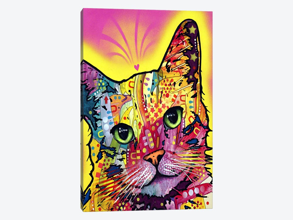 Tilt Cat by Dean Russo 1-piece Art Print