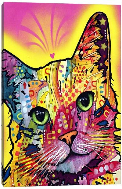 Tilt Cat Canvas Art Print