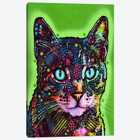 Watchful Cat Canvas Print #4214} by Dean Russo Canvas Art