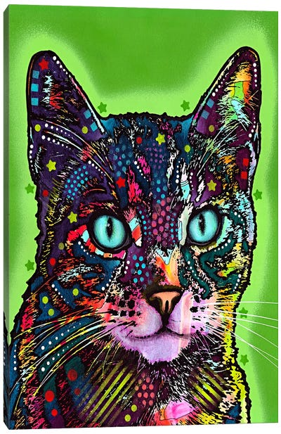 Watchful Cat Canvas Art Print