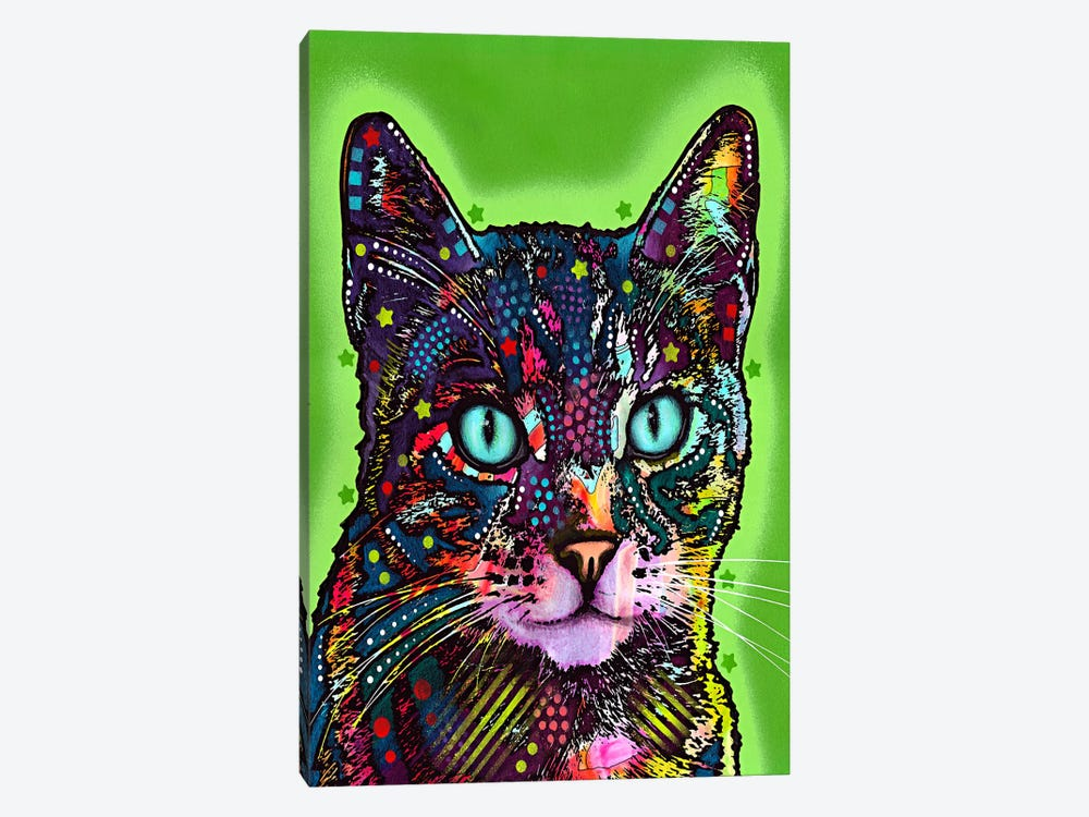 Watchful Cat by Dean Russo 1-piece Canvas Artwork