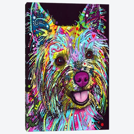 Yorkie Canvas Print #4215} by Dean Russo Canvas Wall Art
