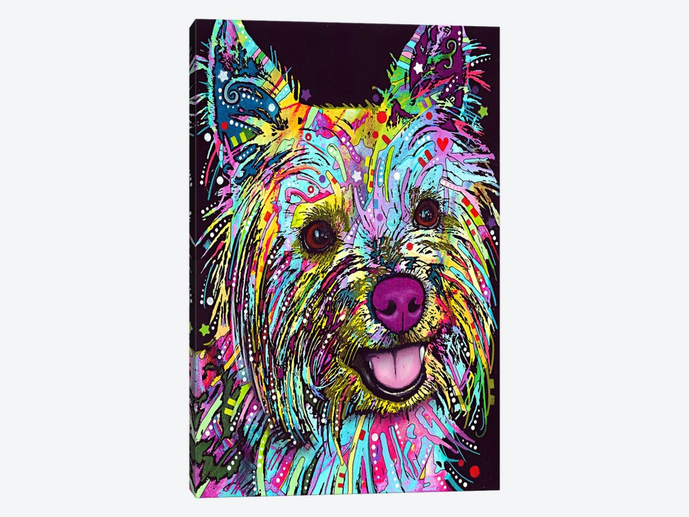 Yorkie by Dean Russo 1-piece Art Print