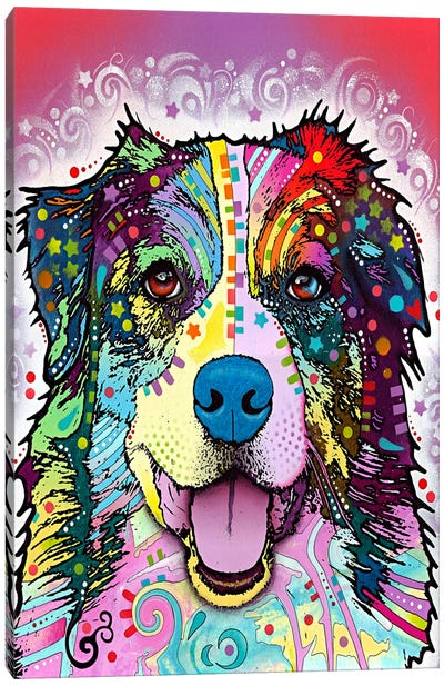 Australian Shepherd by Dean Russo Canvas Wall Art