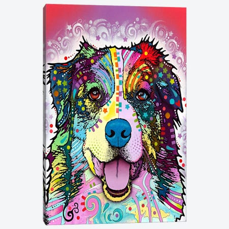 Australian Shepherd Canvas Print #4217} by Dean Russo Canvas Wall Art