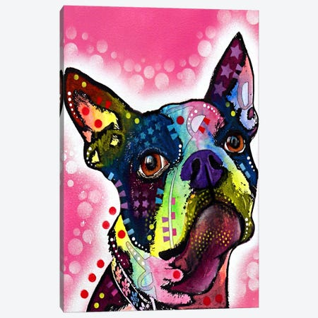 Boston Terrier Canvas Print #4218} by Dean Russo Canvas Art Print
