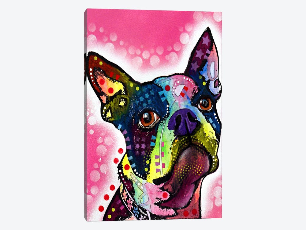 Boston Terrier by Dean Russo 1-piece Canvas Wall Art