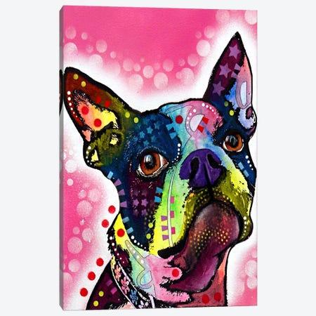 Boston Terrier 3-Piece Canvas #4218} by Dean Russo Canvas Art Print