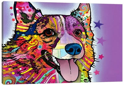 Corgi by Dean Russo Canvas Art