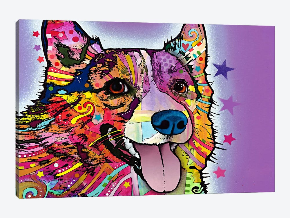 Corgi by Dean Russo 1-piece Canvas Print