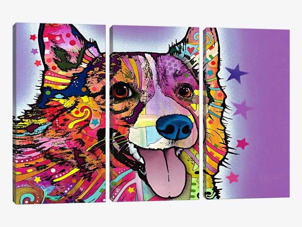 Corgi by Dean Russo 3-piece Canvas Art Print