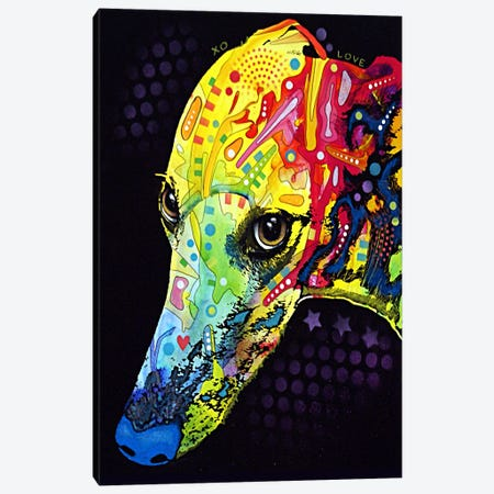 Greyhound Canvas Print #4221} by Dean Russo Canvas Art