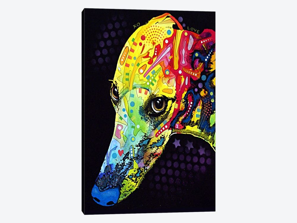 Greyhound by Dean Russo 1-piece Canvas Artwork