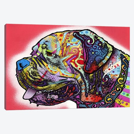 Profile Mastiff Canvas Print #4228} by Dean Russo Canvas Art