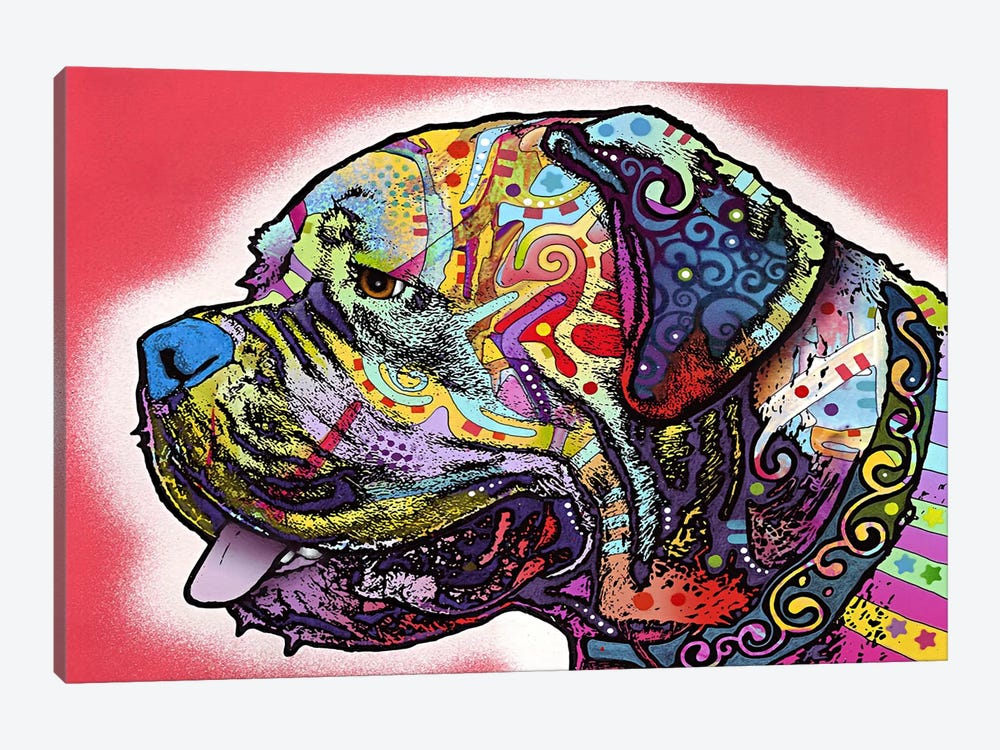 Profile Mastiff by Dean Russo 1-piece Art Print