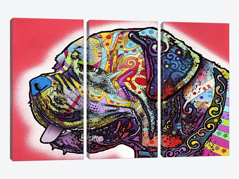 Profile Mastiff by Dean Russo 3-piece Art Print