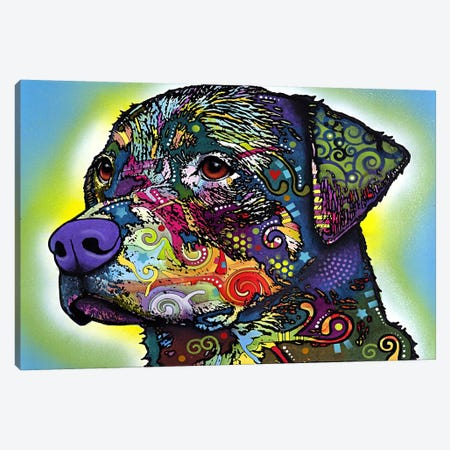 The Rottweiler Canvas Print #4229} by Dean Russo Canvas Artwork