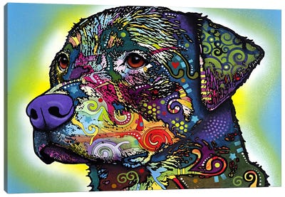 The Rottweiler by Dean Russo Canvas Artwork