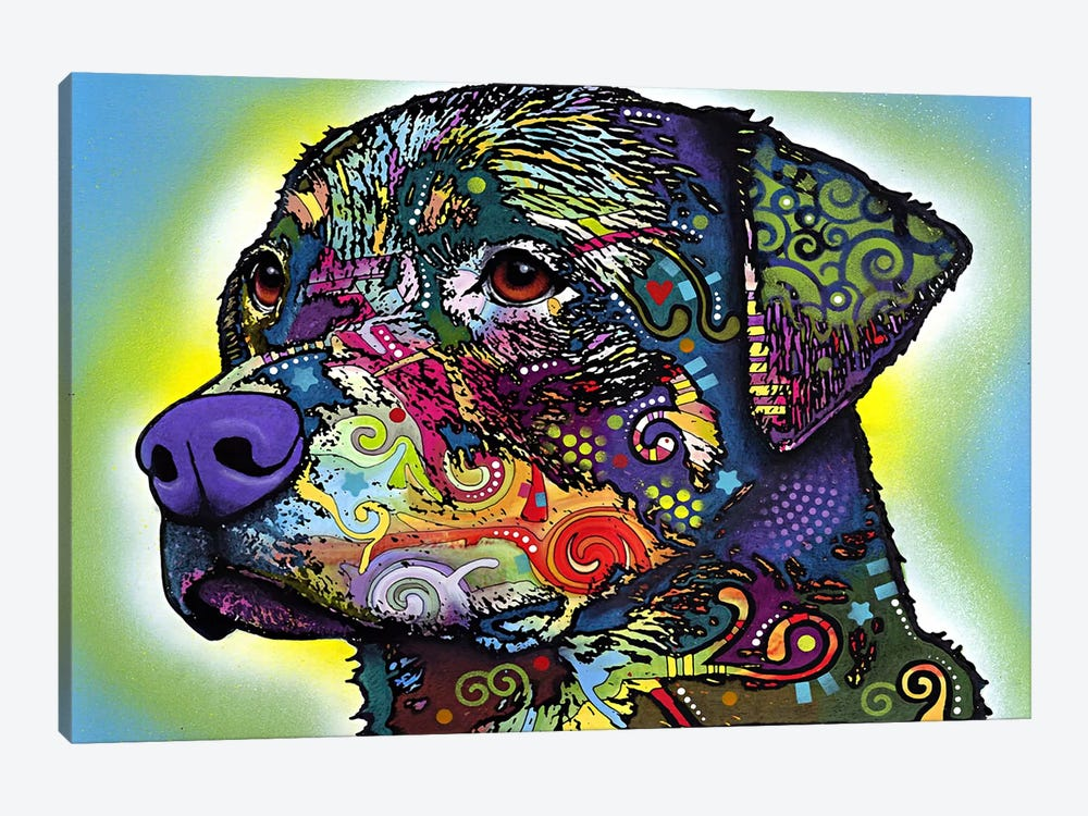 The Rottweiler by Dean Russo 1-piece Canvas Wall Art